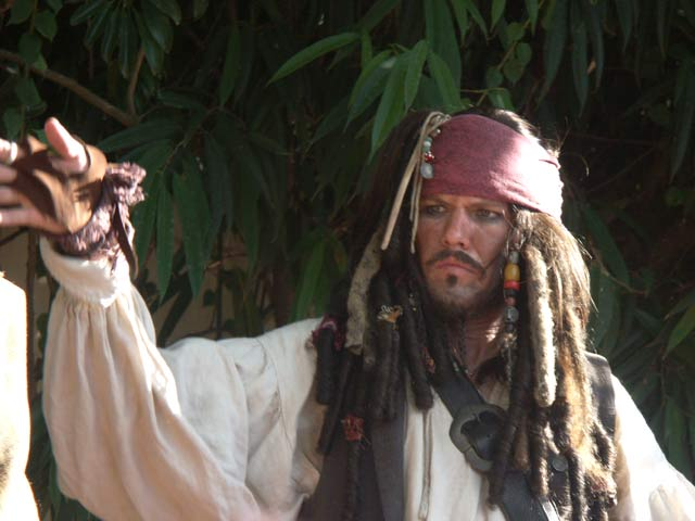 Captain Jack Sparrow from Pirates of the Caribbean