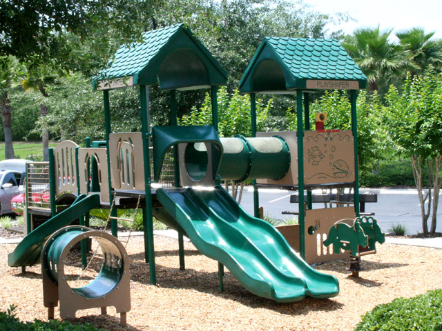 The childrens play area at emerald island florida