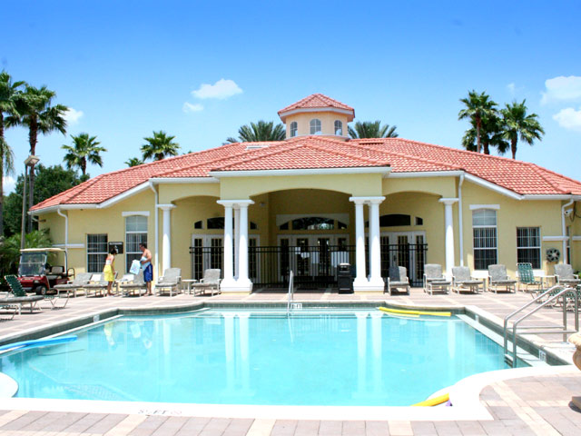 club house and pool at emerald island - florida