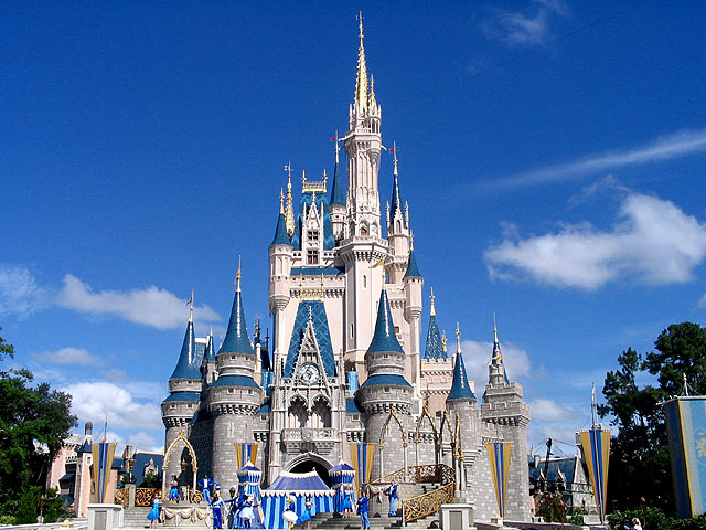 The magic kingdom castle at disney